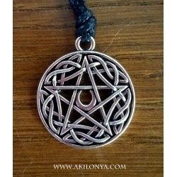 Pentacle with moon in the...