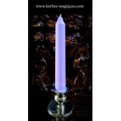 Lilac dripping candle