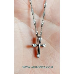 Cross with rhinestones