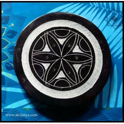 Rosace stone round incense...