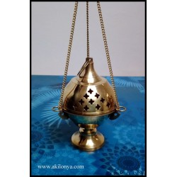 Incense with brass chain