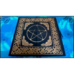 Black altar table with...