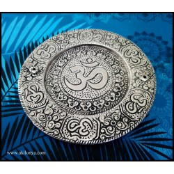 Om plate alu incense holder