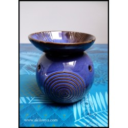 Blue ceramic aromatic lamp