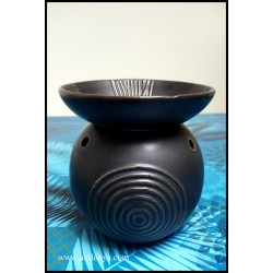Black ceramic aromatic lamp