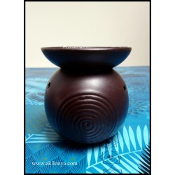 Aromatic lamp in brown ceramic