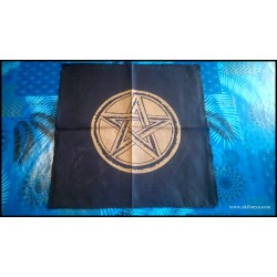Black altar tablecloth with...