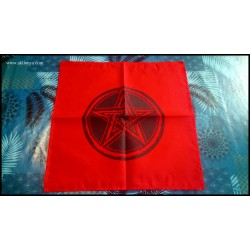 Red altar tablecloth with...