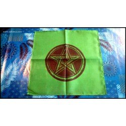 Green altar tablecloth with...