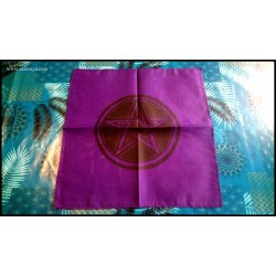 Purple altar tablecloth...